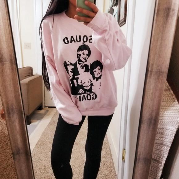 52fc5b48445d1 Hanes Tops | Golden Girls Squad Goals Pink Oversize Sweatshirt ...